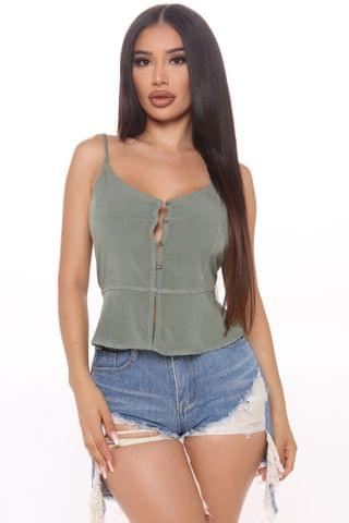 WOMEN Summer Things Cami Top - Olive