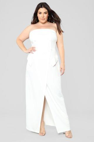 WOMEN Party With Cardi Dress - White