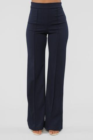 WOMEN Victoria High Waisted Dress Pants - Navy