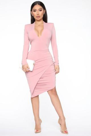 WOMEN Wrapped Up In Love Midi Dress - Mauve