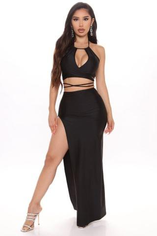 WOMEN Smooth And Sexy Maxi Dress - Black