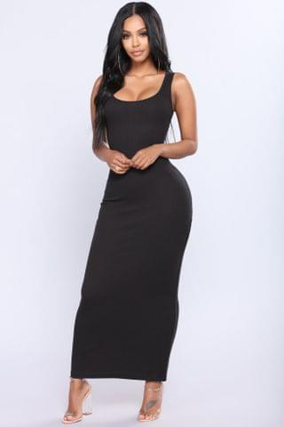 WOMEN Mulberry Street Maxi Dress - Black