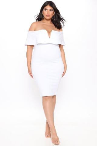 WOMEN Lyla Off Shoulder Dress - White