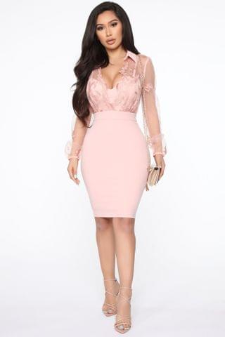 WOMEN Stored In Place Midi Dress - Pink