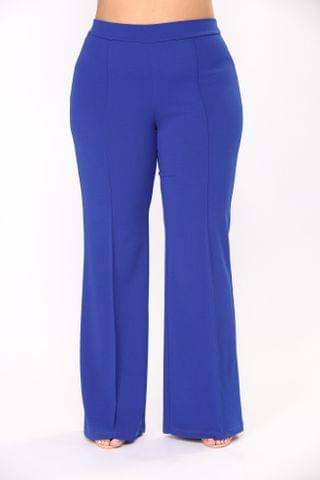 WOMEN Victoria High Waisted Dress Pants - Royal