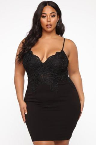 WOMEN Looking So Perfect Lace Dress - Black