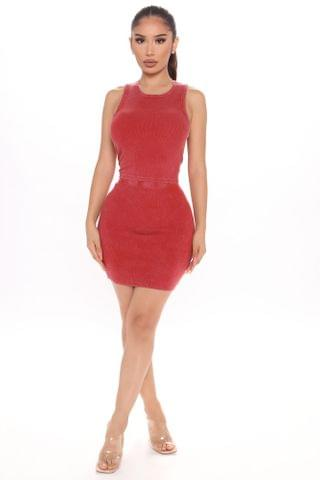 WOMEN The Aesthetic Mineral Wash Skirt Set - Red
