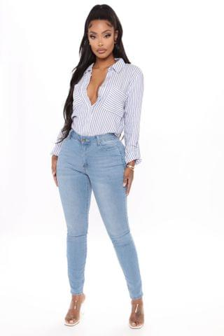 WOMEN Say No More Skinny Jeans - Light Blue Wash