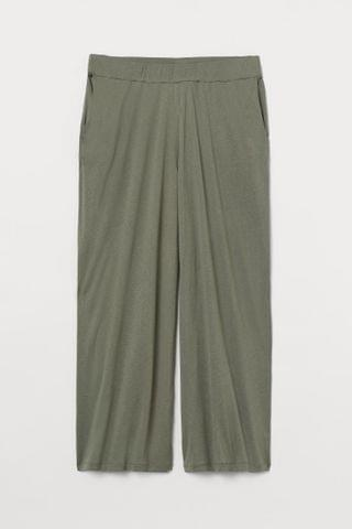 WOMEN H&M+ Wide jersey trousers