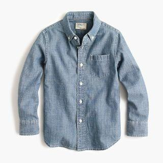 KIDS Boys' chambray button-down