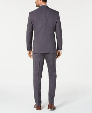 MEN by Andrew Marc Men's Modern-Fit Stretch Gray Solid Suit