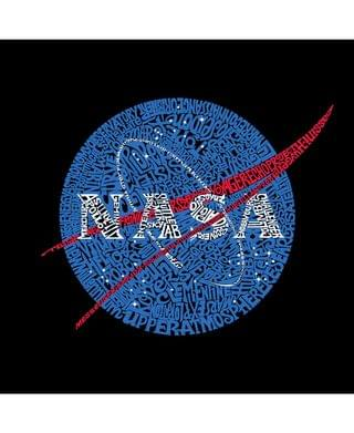 MEN Men's Word Art Long Sleeve T-Shirt- Nasa Meatball Logo