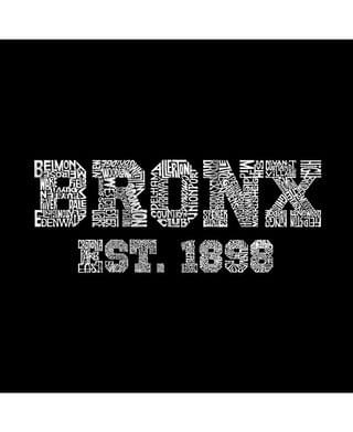 MEN Men's Word Art Long Sleeve T-Shirt- Popular Bronx, NY Neighborhoods