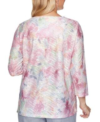 WOMEN Petite Primrose Garden Printed Textured Top