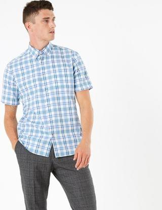 MEN Pure Cotton Check Shirt
