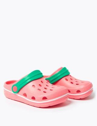 KIDS Kids' Contrast Strap Clogs (5 Small - 12 Small)
