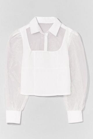 WOMEN Sheer Madness Organza Button-Down Shirt