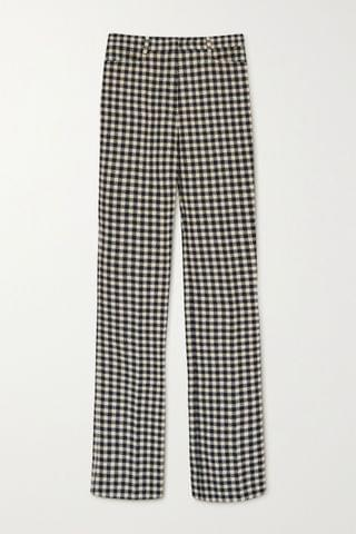 WOMEN VICTORIA BECKHAM Checked woven flared pants