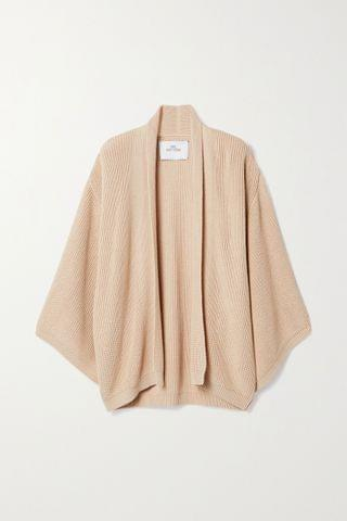 WOMEN I LOVE MR MITTENS Oversized ribbed cotton cardigan