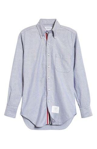 MEN Thom Browne Extra Trim Fit Oxford Shirt with Grosgrain Trim