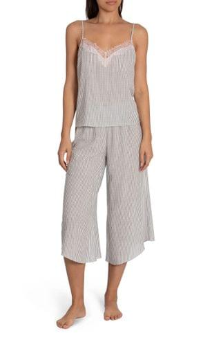 WOMEN Midnight Bakery Reese Stripe Camisole Crop Pajamas
