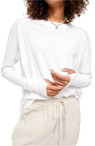 WOMEN Free People Arden Extra Long Cotton Top
