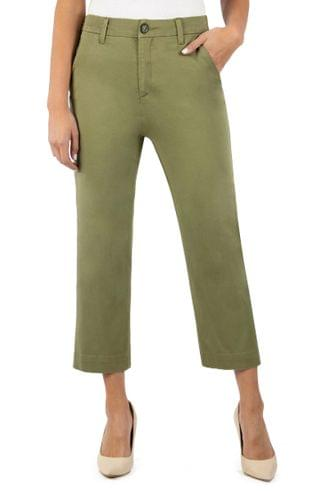 WOMEN KUT from the Kloth Harmony Stretch Cotton Crop Trousers