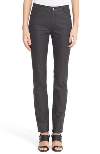 WOMEN Lafayette 148 New York Waxed Denim Slim Leg Jeans (Regular & Petite)
