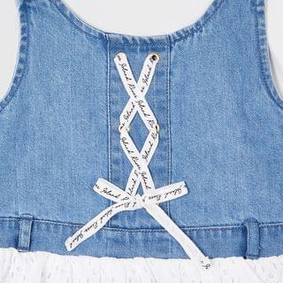 KIDS Mini girls denim pinafore dress outfit