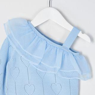 KIDS Mini girls blue knitted rara skirt outfit