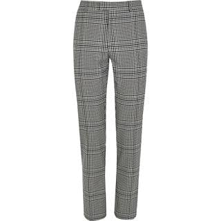 MEN Grey check tapered fit smart trousers
