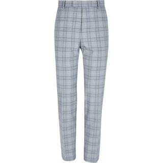 MEN Grey check slim fit trousers