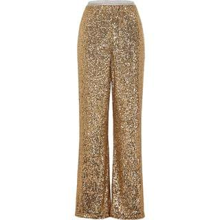WOMEN Gold sequin trousers