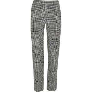 MEN Grey check skinny fit smart trousers