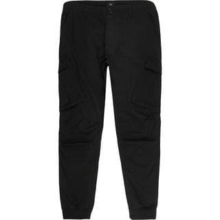 MEN Black Jimmy tapered cargo trousers