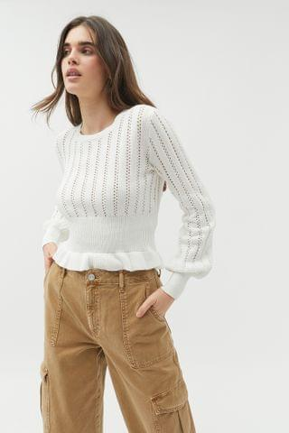 WOMEN The Fifth Label Galaxies Knit Peplum Sweater