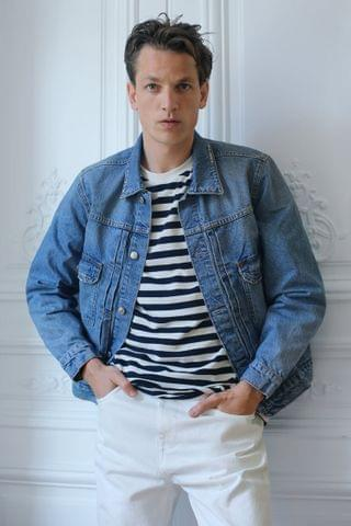 MEN BOXY DENIM JACKET