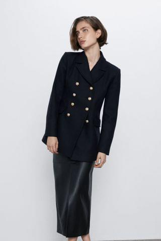 WOMEN BUTTONED TAILORED COAT