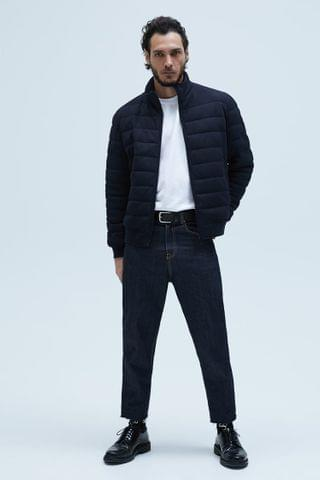 MEN TEXTURED WEAVE QUILTED JACKET