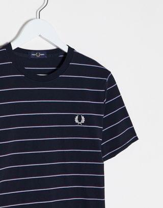 Fred Perry striped t-shirt in navy