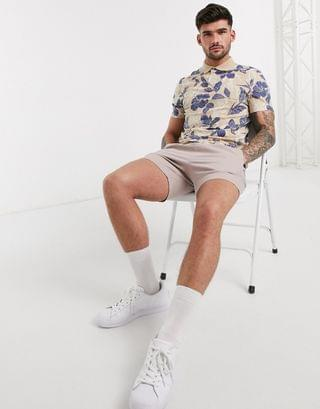 all over floral print polo in organic cotton