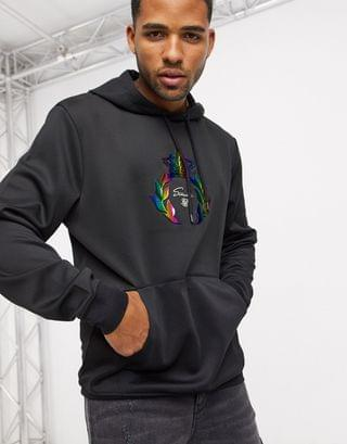 Siksilk hoodie with crest logo in black