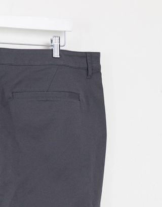Plus super skinny chino shorts in washed black