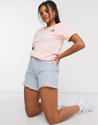 WOMEN The North Face Dome Climb t-shirt in pink