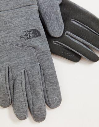 The North Face Etip glove in gray