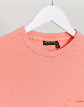 WOMEN Petite t-shirt with pocket in washed coral