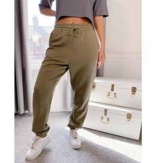 WOMEN Missguided two-piece oversized sweatpants in khaki
