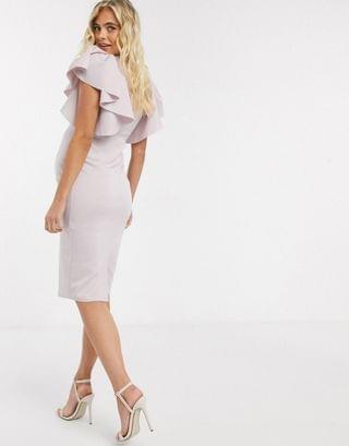 WOMEN Maternity Exclusive cape sleeve midi dress in pink