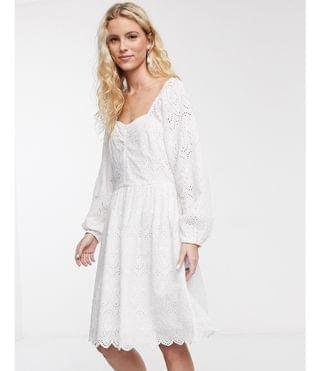 WOMEN Notes Du Nord omia broderie floral mini dress in white