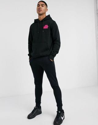 The North Face Logo Haze hoodie in black
